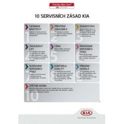 10 servisních zásad Kia - plakát